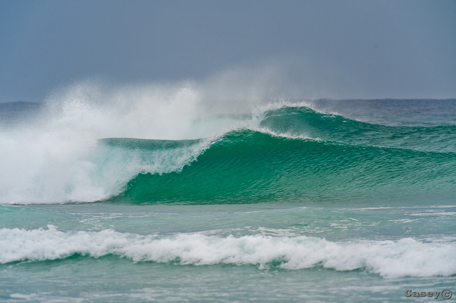 offshore and clean nice waves inviting