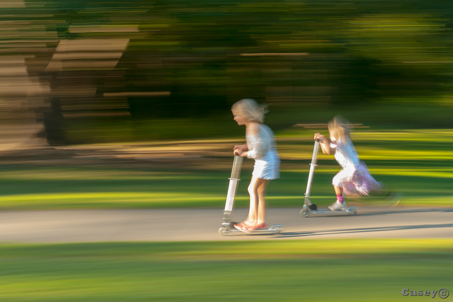 scooting motion blur