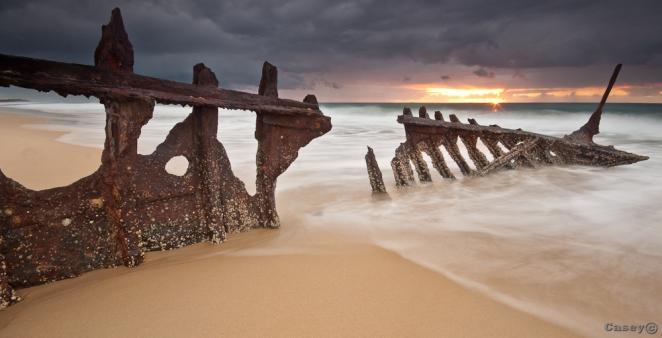 shipwrecked sunrise