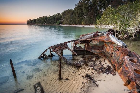 shipwreck, sand seascape, ocean