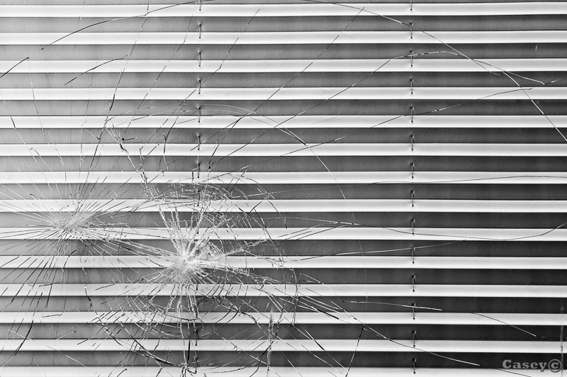 contrast B&W shattered glass