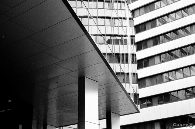 buildings, lines, greyscale
