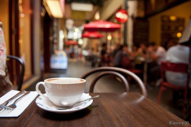 bokeh, street cafe