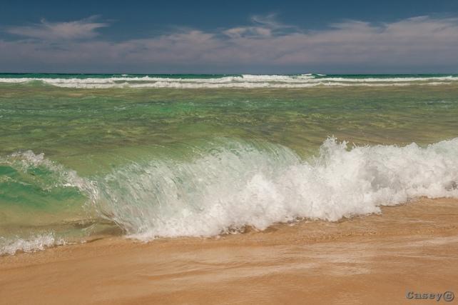 waves, water, refreshing