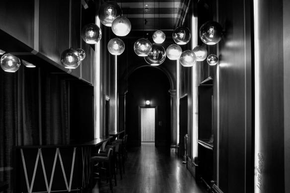 B&W tones, interior