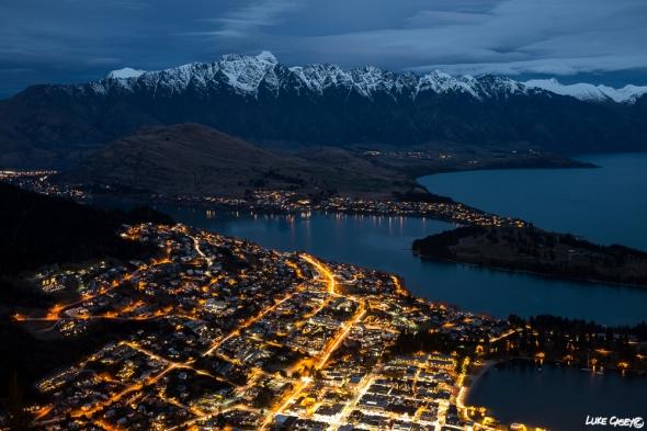 twilight, city lights