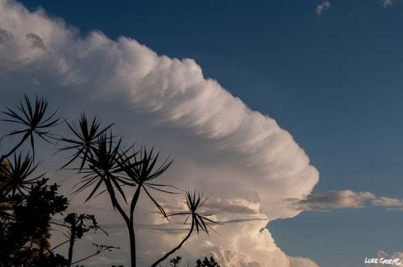 towering storm clouds